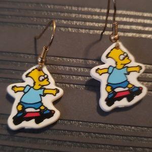 90's Bart Simpson Simpsons earrings